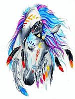 Картина за номерами Кінь індиго 40*50 см. Код-08657