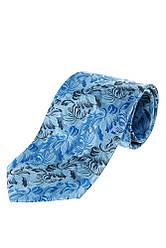 Галстук мужской с цветочным принтом 50PA0002 (Сине-голубой)