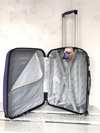 Пластиковый чемодан на 4-х колесах качественный шампань чемодан / Пластикова валіза золота , фото 2