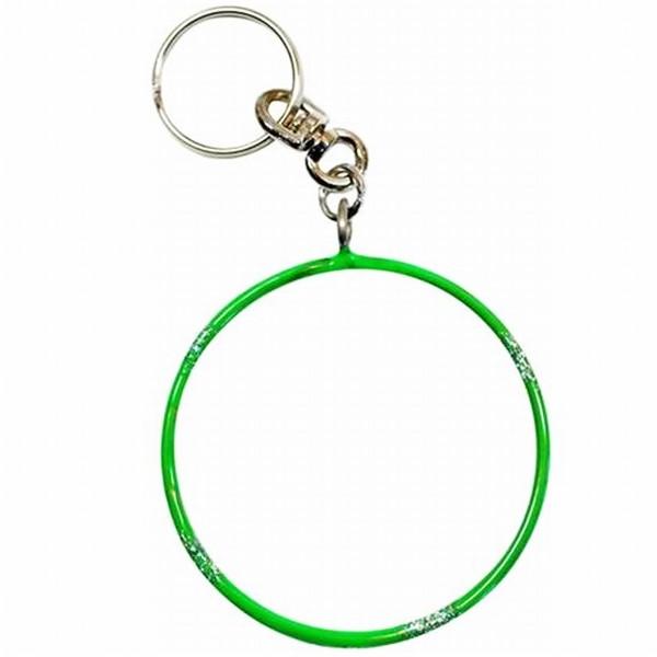 """Брелок Pastorelli Hoop Glitter """"Обруч""""  00552 флюо-зеленый"""