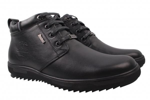 Ботинки Brionis натуральная кожа, цвет черный