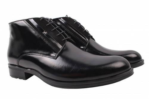 Ботинки Conhpol натуральная кожа, цвет черный 44