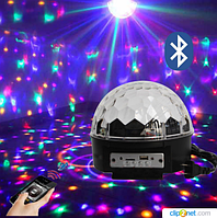 Диско-шар LED Magic Ball Light (MP3, BLUETOOTH, USB, SD), фото 1