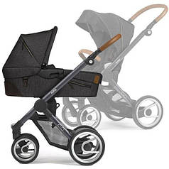 Детская универсальная коляска 2 в 1 Mutsy EVO Industrial  Charcoal/Dark Grey Cognac