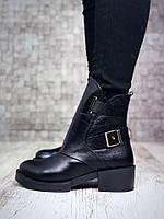 Стильные зимние ботинки Натуральная кожа элит флотар, внутри мех.