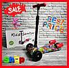 Детский складной самокат - ракета с прожектором, музыкой и светом (Граффити) 1666
