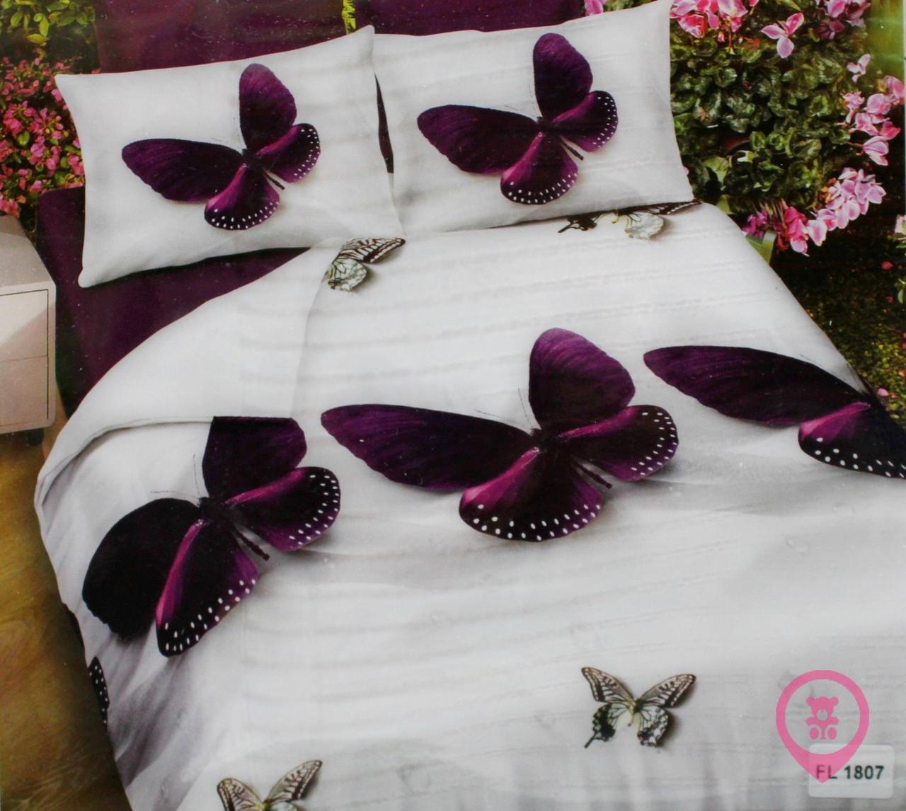 Комплект постельного белья микрофибра Florida 5D Sateen 200х220  FL 1807