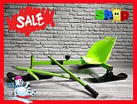 Санки - снегокаты 2 в 1 детские 0124 (зеленые)