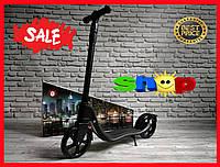 Самокат скутер Scooter c подножкой.Большие колеса.