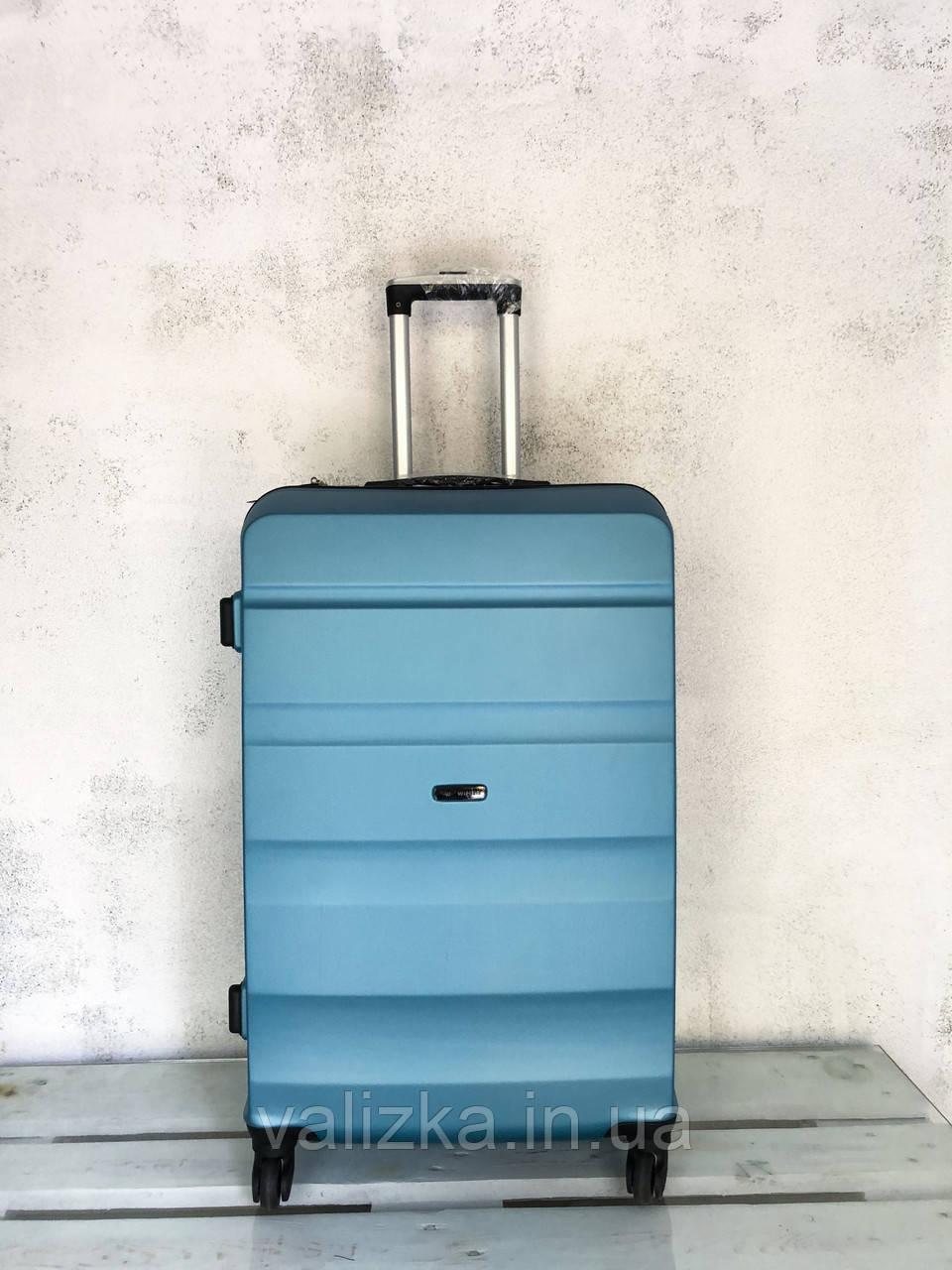 Большой чемодан из поликарбоната 4-х колесный Оригинал Польша! Валіза велика з полікарбонату голуба