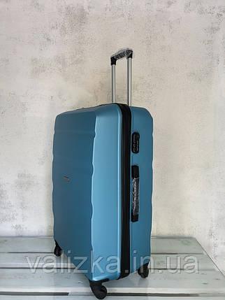 Большой чемодан из поликарбоната 4-х колесный Оригинал Польша! Валіза велика з полікарбонату голуба, фото 2