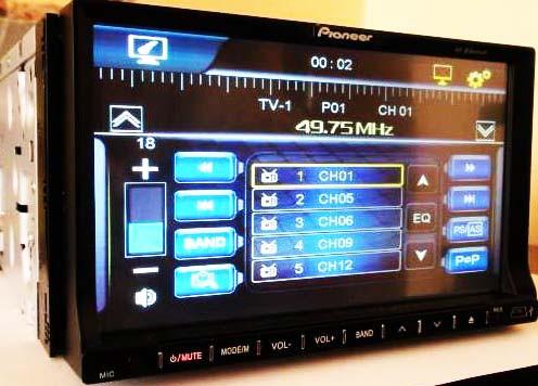 "2din Pioneer PI-803 7""+ цветная камера и TVантенна"