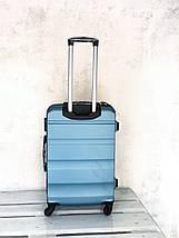 Чемодан из поликарбоната средний чемодан голубой Польша / Валіза середня з полікарбонату , фото 3