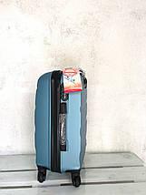 Чемодан из поликарбоната ручная кладь S+, чемодан голубой Польша / Валіза з полікарбонату ручна поклажка, фото 3