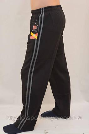 Штани чоловічі зимові спортивні з 2 смугами і кишенями на блискавці, фото 2