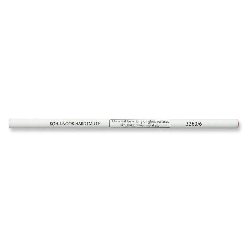 Карандаш-стеклограф, 3263/6, белый уп.6шт