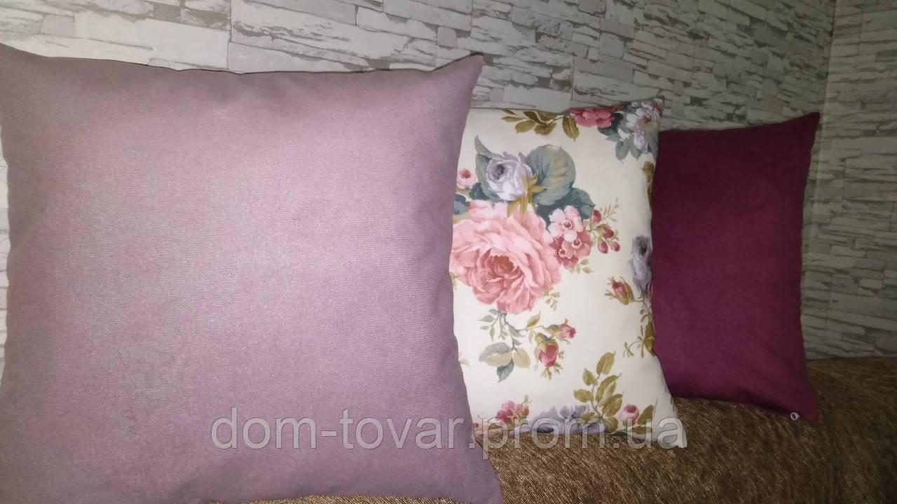 Подушки декоративные со съемным чехлом 45х45