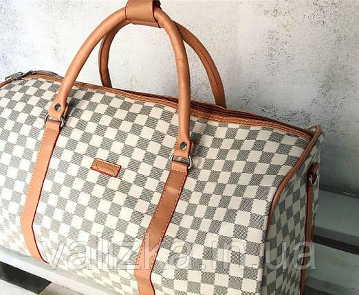 Дорожная сумка из эко кожи ручная кладь / Саквояж дорожный под LV , фото 2
