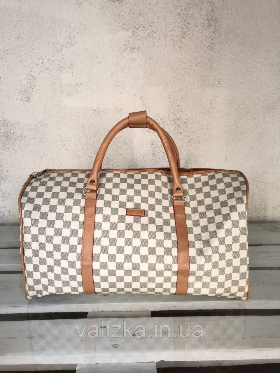 Дорожная сумка из эко кожи ручная кладь / Саквояж дорожный под LV