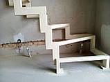 Поворотный каркас лестницы на ломаных косоурах с забежными ступенями, фото 2