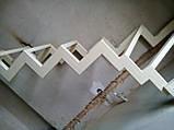 Поворотный каркас лестницы на ломаных косоурах с забежными ступенями, фото 3