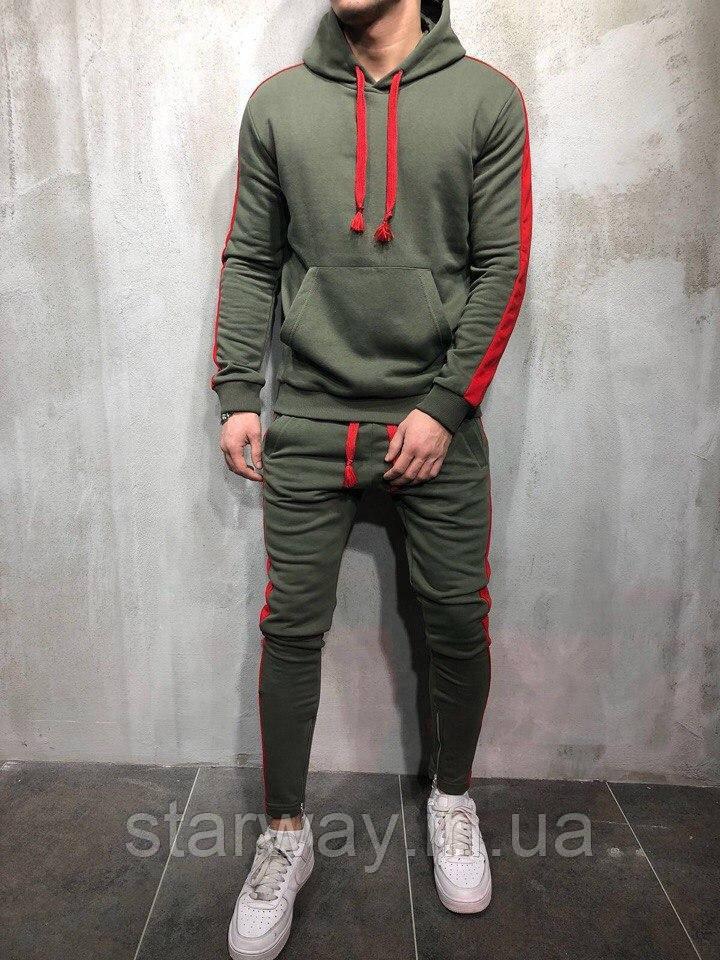 Трикотажный костюм с лампасами | Топ качества