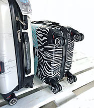 "Пластиковый чемодан для ручной клади с принтом ""Зебра""  Airtex Франция. Валіза пластикова з малюнком, фото 2"