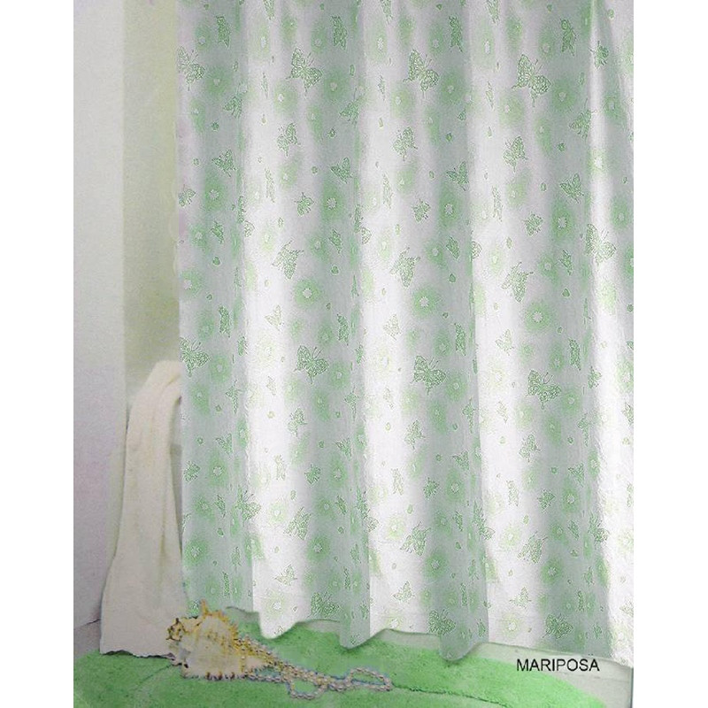 Шторка для ванны 180х200 см Bisk Mariposa 071978 зеленая