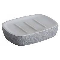 Мыльница Bisk Stone 06312 серый