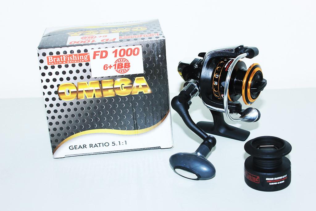Катушка BratFishing Omega FD 1000 6+1BB