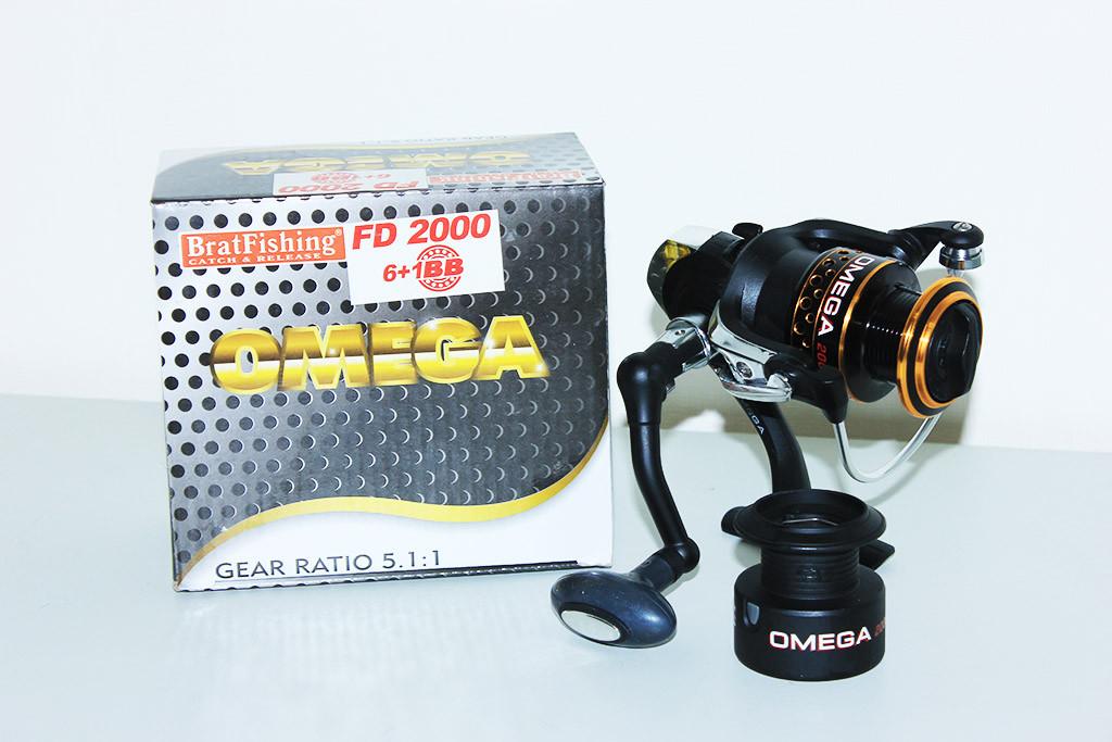 Катушка  BratFishing Omega FD 2000 6+1