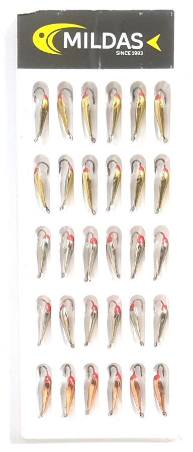 Блесна для зимней рыбалки Mildas в блистере с одним крючком №14, 30шт