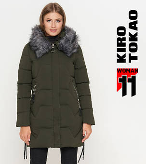Kiro Tokao 6372 | Куртка женская зимняя оливковый, фото 2