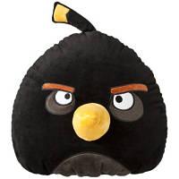 Мягкая игрушка антистрессовая - ANGRY BIRDS (птичка черная, 25 см)
