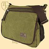 Сумка мессенджер на плечо сумка-планшет брезентовая (котон). В расцветках, фото 2
