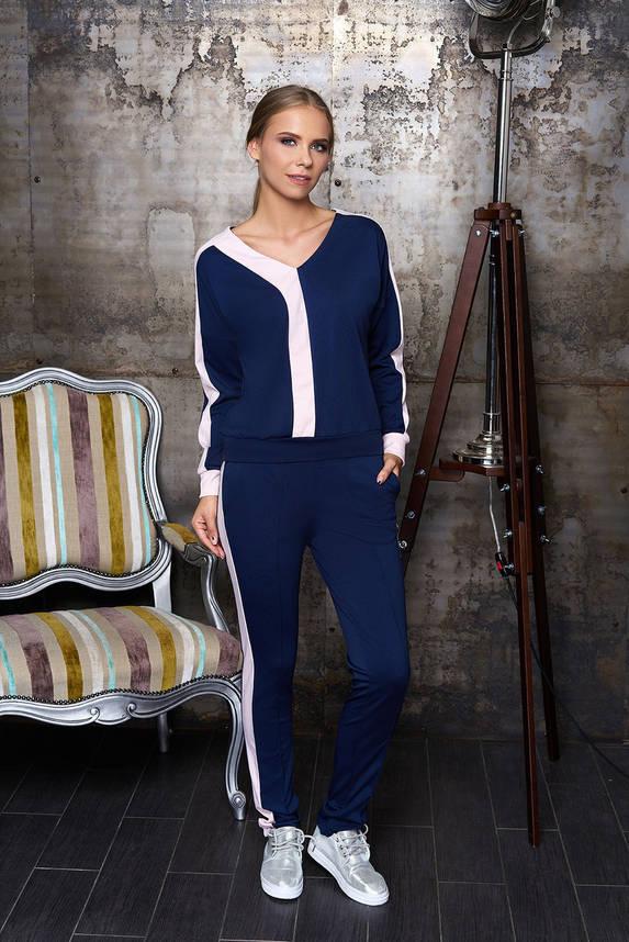 Женский спортивный костюм прогулочный синий 44-54р, фото 2