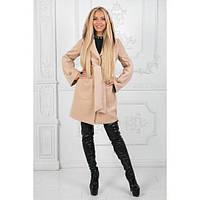 Пальто женское кашемировое с подкладкой АП-900910 бежевый