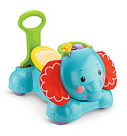 Fisher-Price Ходунки каталка Cлоненок 3 в 1 (3-in-1 Bounce, Stride And Ride Elephant )