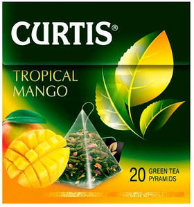 Чай зелёный CURTIS Манго 20 пакетиков (пирамидки)