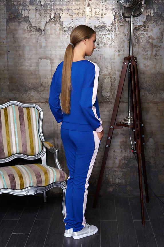 Женский спортивный костюм прогулочный электрик 44-54р, фото 2