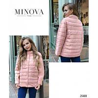 Куртка женская прямого кроя с воротником-стойка MNV-1029.26 розовый