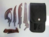 Туристический набор ножей 4 в 1 с пилой и топором.