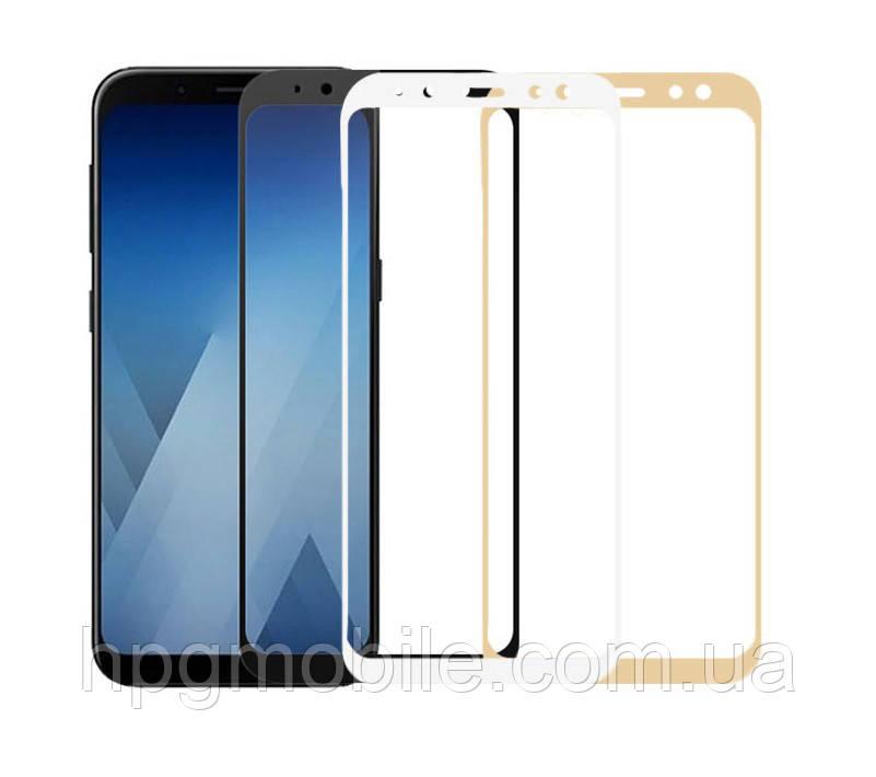 Защитное стекло 5D Full Glue на весь экран для Samsung Galaxy A8 (2018) A530