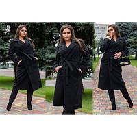 Пальто женское кашемировое удлиненное ММ-318 черный