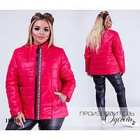 Куртка женская стеганная короткая R-18830 малиновый