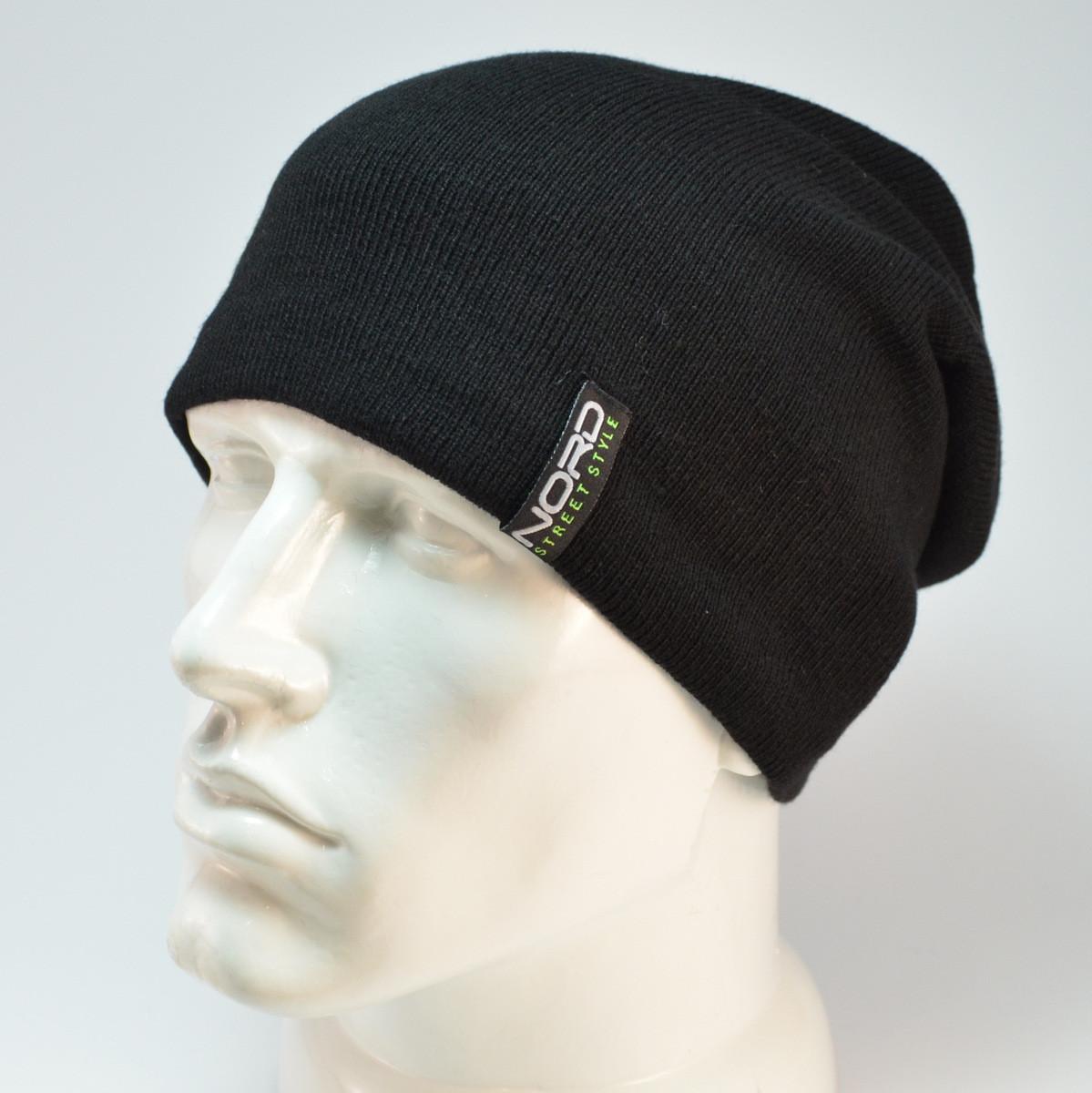 Мужская шапка Nord с кнопкой GR
