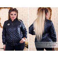 Куртка женская 809-1 декор-нашивка R-15883 черный