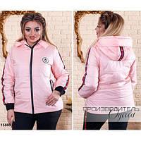 Куртка женская 808 с карманами R-15880 розовый