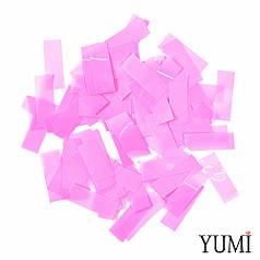 Конфетти полоски толстые (метафан) розовые