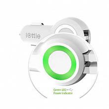 Авто з/у iOTTIE RapidVOLT Max Dual Port USB Car Charger (5A/25W, 2USB) White (CHCRIO104WH)